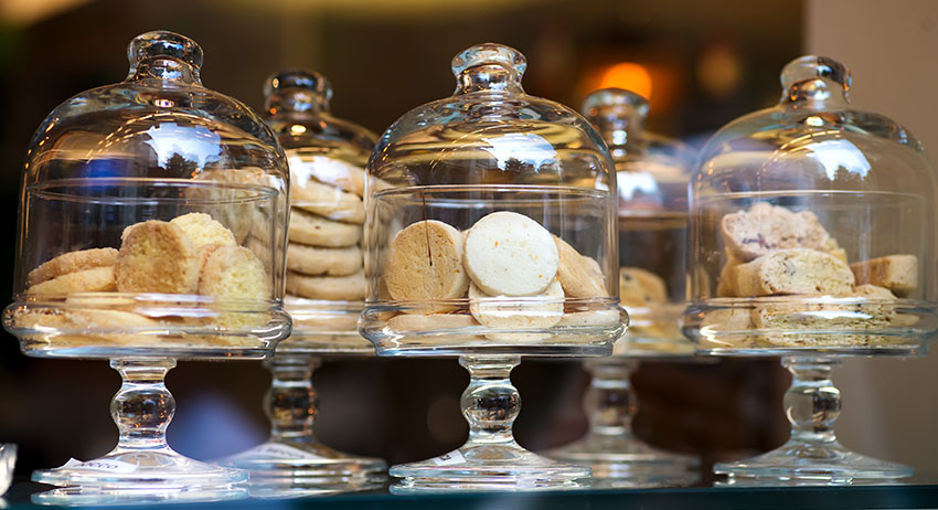 Italian style display of cannabis infused Shortbread cookies