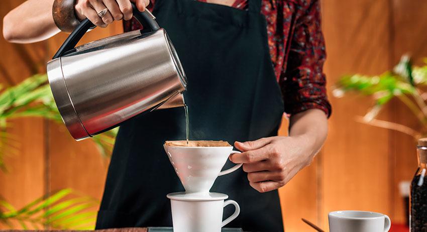 Drip Coffee Making Barista