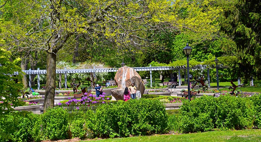 Image Rosetta McClain Gardens in Scarborough, a great place to smoke weed in East Toronto.
